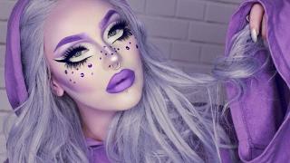 drag inspired makeup tutorial | purple cut crease