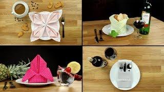 Servietten falten - Anleitung einfache schnelle Tisch Deko für Hochzeit, Geburtstag, Anlässe