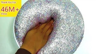 How To Make Slime : Fluffy Hologram glitter Slime