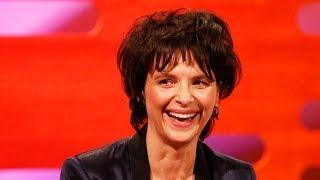 RICKY GERVAIS & JULIETTE BINOCHE Translate Jokes Into English - The Graham Norton Show BBC America