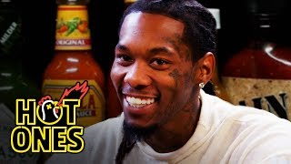 Offset Screams Like Ric Flair While Eating Spicy Wings   Hot Ones