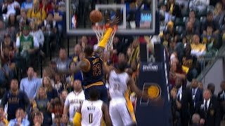 LeBron James With The Incredible Chasedown Block In Indiana | April 23, 2017