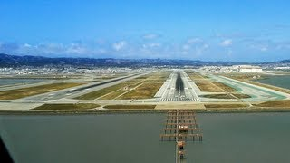 PilotsEYE.tv - A380 Landing KSFO San Francisco SUBTITLES English | without commentary |