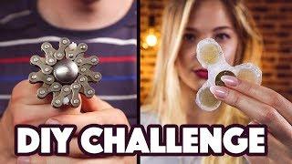 FIDGET SPINNER DIY CHALLENGE!