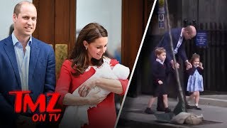 Kate Middleton & Prince Williams Welcome Their New Baby Boy To The World! | TMZ TV