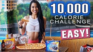 10,000 CALORIE CHALLENGE DESTROYED! | GIRL SCIENTIST VS FOOD | EPIC CHEAT DAY