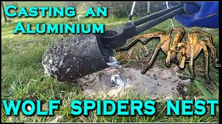 Casting a TRAPDOOR / WOLF SPIDERs nest out of MOLTEN ALUMINIUM! - Creating the cthulhu tentacle