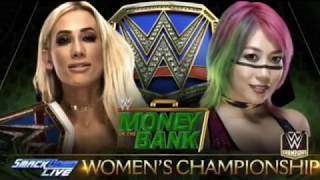 WWE Money in the Bank 2018 Carmella vs Asuka Official Match Card