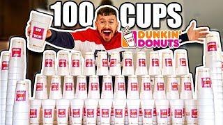 100 CUPS OF COFFEE!! *DUNKIN DONUTS SIP PEEL WIN JACKPOT CHALLENGE*