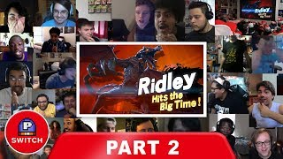 Live Reaction: Ridley on Smash Bros Ultimate (PART 2) | E3 2018 | Synched Compilation