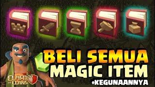 BELI DAN COBA SEMUA MAGIC ITEM YANG ADA! - Clash of Clans Indonesia