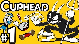 """CUPHEAD + Mugman - 2 Player Co-Op! - Gameplay Walkthrough PART 1: """"Don't Deal With The Devil"""""""