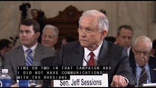 """Sessions """"I Did Not Have Communications With The Russians"""""""