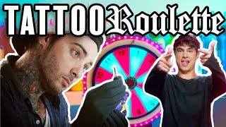 Tattoo Roulette ep.1 - Kian Lawley, Romeo Lacoste (Official Game Show!)