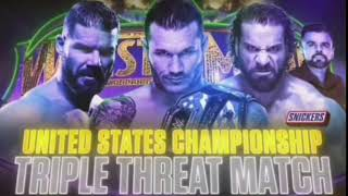 WWE Wrestlemania 34 Randy Orton vs Bobby Roode vs Jinder Mahal Official Match Card