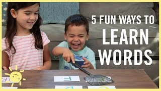 PLAY | Fun Ways to Learn Words!! (Reading/ Writing)