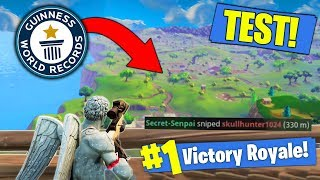 What Is The LONGEST POSSIBLE Snipe In Fortnite? [TEST]