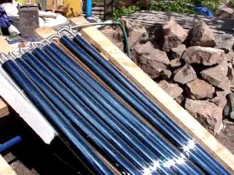 Солнечный коллектор из гофрированной трубы