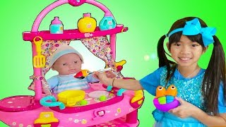 Emma Pretend Play w/ Little Cry Baby Doll Nursery Play House Playset