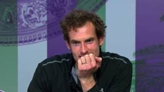 ANDY MURRAY AT WIMBLEDON FUNNY QUESTION