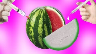 Experiment - Kann man eine Wassermelone mit Chlor bleichen?