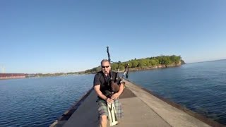 EARLY MORNING BAGPIPES OVER LAKE SUPERIOR | Jason Asselin