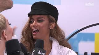 Tyra Banks Red Carpet Interview - AMAs 2018