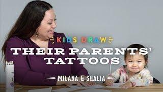 Milana Draws a Tattoo for Her Mom   Kids Draw   Cut