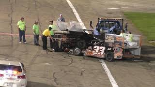 WHAT IN THE WORLD!? RACE CAR DRIVES OVER TOP OF ANOTHER!!