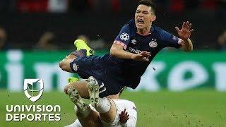 ¡Lo reventaron a patadas! Seguimiento al 'Chucky' Lozano en el duelo contra el Tottenham