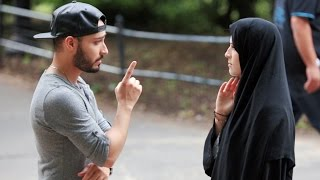 MUSLIM WOMAN BEATEN IN PUBLIC EXPERIMENT