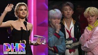 BTS DODGES Flying Fruit - Selena Gomez BREAKS DOWN While Accepting Award (DHR)