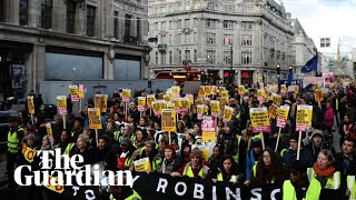 Protesters rally against Tommy Robinson-led