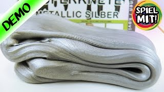 KAAN IM SILBERRAUSCH! Super Knete Busduga Intelligente Knete Alternative Metallic Silber Deutsch