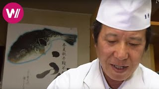 "Fugu | how to prepare the deadly pufferfish shown by ""Uosei"" chef Rikizo Okamoto | Tokyo"