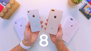 iPhone 8 vs 8 Plus Unboxing & Comparison!