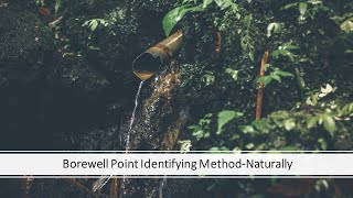 Bore well point identifier using coconut