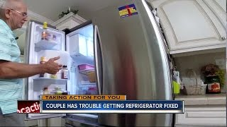 Couple has trouble getting $1700 refrigerator fixed