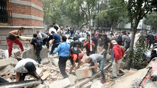 MEXICO CITY QUAKE:  Major earthquake causes widespread damage and injuries in Mexico City