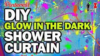 DIY Glow in the Dark Shower Curtain - Man Vs Pin #113
