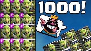 1000 MAL DIE GOBLINGANG! || CLASH ROYALE || Let
