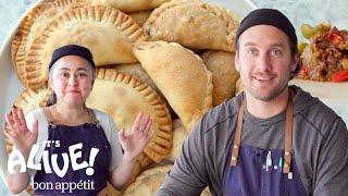 Brad and Gaby Make Beef Empanadas | It
