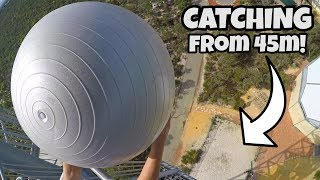 CATCHING EXERCISE BALLS from 45m!
