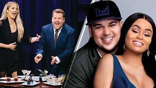 "Khloe Kardashian DISSES Rob and Chyna in ""Spill Your Guts"" Game on Late Late Show with James Corden"