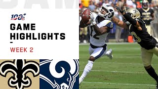 Saints vs. Rams Week 2 Highlights   NFL 2019