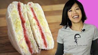 DIY INKIGAYO Sandwich - the egg salad, STRAWBERRY JAM & cabbage K-POP STAR sandwich