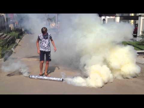 Как сделать дымовую шашку в домашних условиях видео из селитры