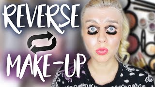 Omg .. Was hab ich getan ? 😱 REVERSE Make-up CHALLENGE | Dagi Bee