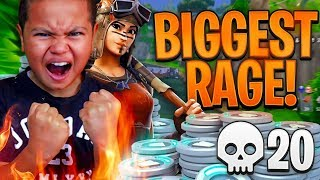 MY 9 YEAR OLD LITTLE BROTHER *BREAKS* HIS PERSONAL RECORD KILLS! HE RAGED TOO FORTNITE BATTLE ROYALE