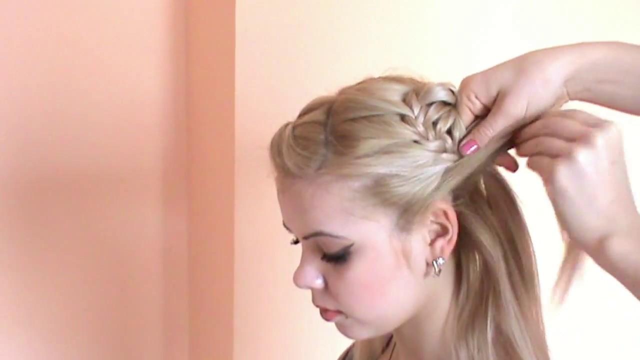Уроки причёсок плетение с видео
